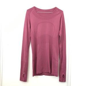Lululemon Pink Berry Swiftly Tech Long Sleeve Top
